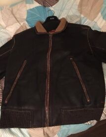 HUGO BOSS 100% AUTHENTIC PURE LEATHER JACKET CHEAP