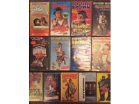 13 video tapes and player
