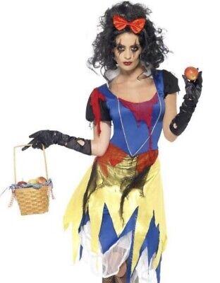 Snow White Zombie Costume Ladies Fright Night Halloween Fancy Dress Fairytale ()