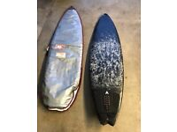 Surfboard and bag 6ft 2""