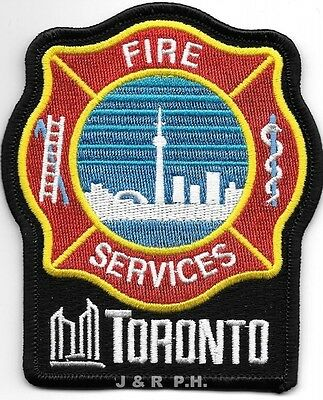 """Toronto, Ontario, Canada  new style (3.5"""" x 4"""" size) fire patch"""