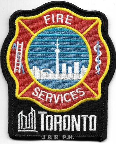 """*USED*  Toronto, Ontario, Canada  new style (3.5"""" x 4"""" size) fire patch"""