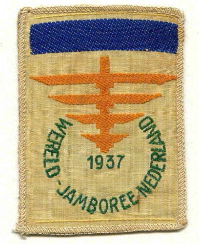 1937 Jamboree dark blue bar Patch , Boy scout patch  , R !