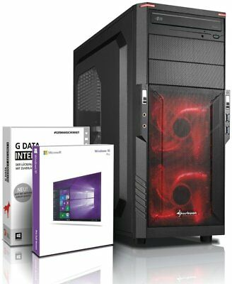 PC Quad Core Computer GAMER A10 8750 8GB 1TB Rechner Komplett Windows 10