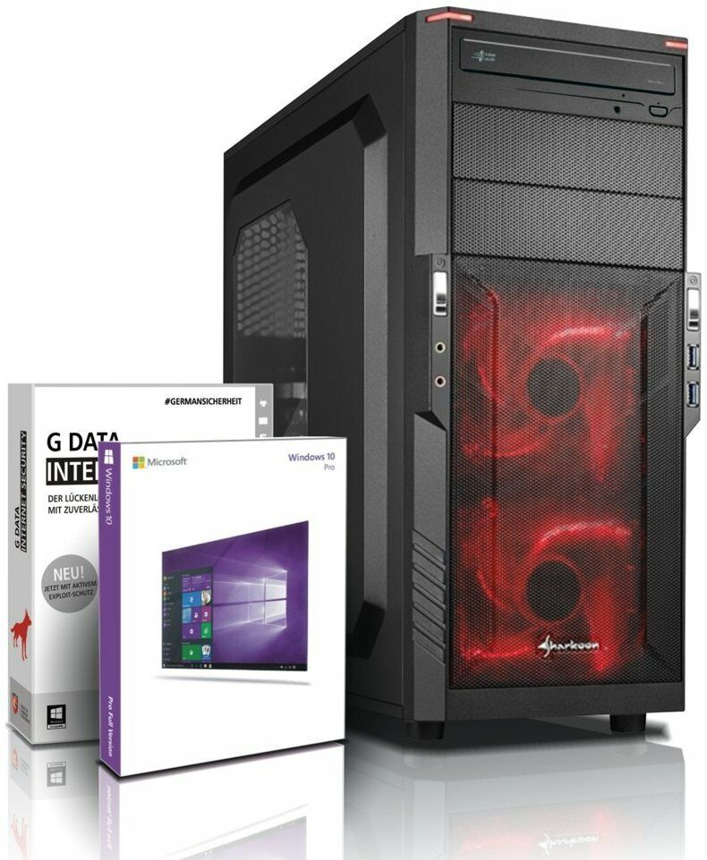 PC Quad Core Computer GAMER A10 7700K 8GB 1TB Rechner Komplett Windows 10