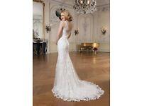 Justin Alexander 8530 wedding dress and veil size 10