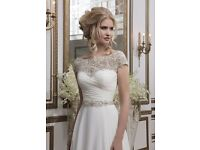 Stunning, Sparkly & Photogenic Justin Alexander 8799 Wedding Dress, Size 12-14. Used & Dry Cleaned