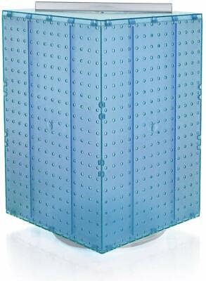 701414-blu Pegboard 4-sided Revolving Counter Display Blue Color With Mix Pegs