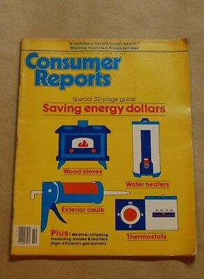 October 1981 Consumer Reports Featuring Energy Saving Tips And Materials Cr