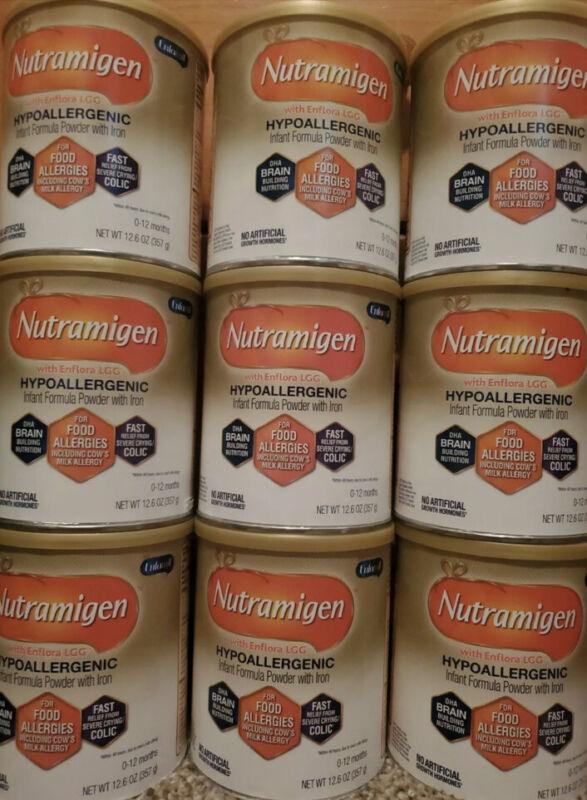 Nutramigen Infant Hypoallergenic Formula 9 Cans - 12.6 Oz Can