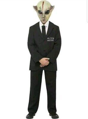 Childs Smiffys Alien Agent Costumes Large 10-12 Years - Alien Agent Kostüme
