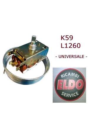 Thermostat Universal Refrigerator Type Ranco K59 L1260 3 Contacts Double (Double Thermostat Refrigerator)