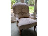 Tiny armchair, beautifully upholstered