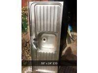 Double drainer stainless steel kitchen sink