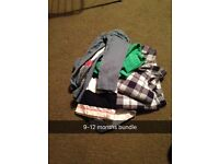 Baby boys clothes 6-9 and 9-12 months