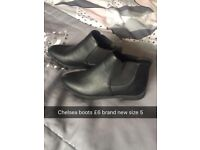 Brand new black Chelsea boots
