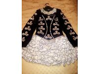 Stunning black and white Irish dance dress