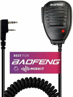 Baofeng Handheld Speaker Microphone for 2 Way Radio Mirkit Edition, USA Warranty