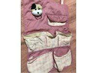 Pink Wall Hanging Storage Bag Cotton Linen Bathroom Makeup Organiser Pockets