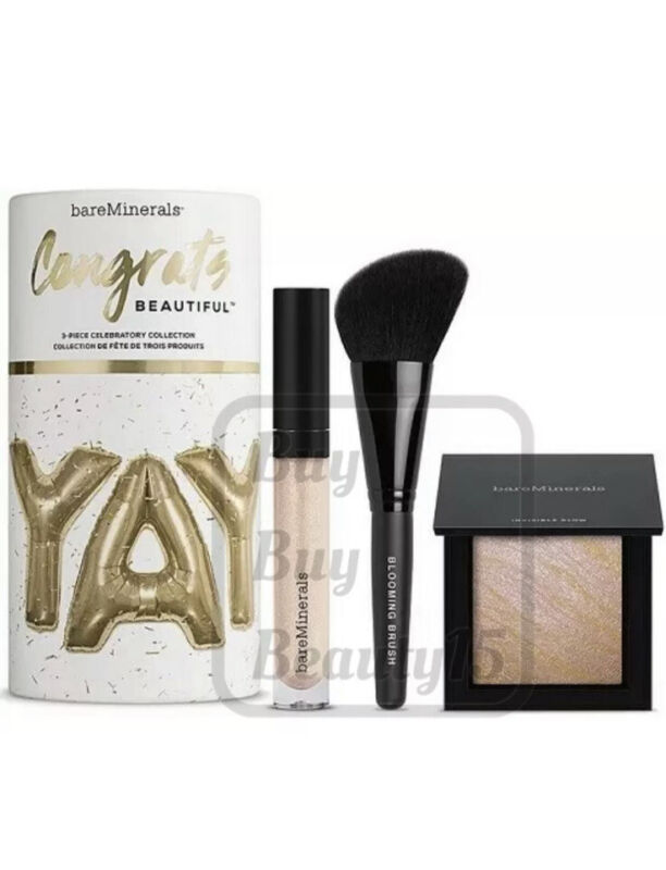 bareMinerals Congrats Beautiful 3 Pc Celebratory Collection set- limited edition