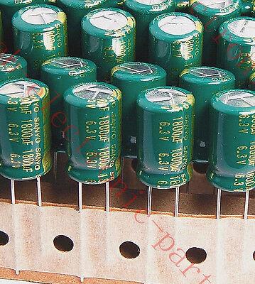 10pcs-- 1800uf 6.3v Electrolytic Capacitor 6.3v1800uf Sanyo Wg Low Esr Japan