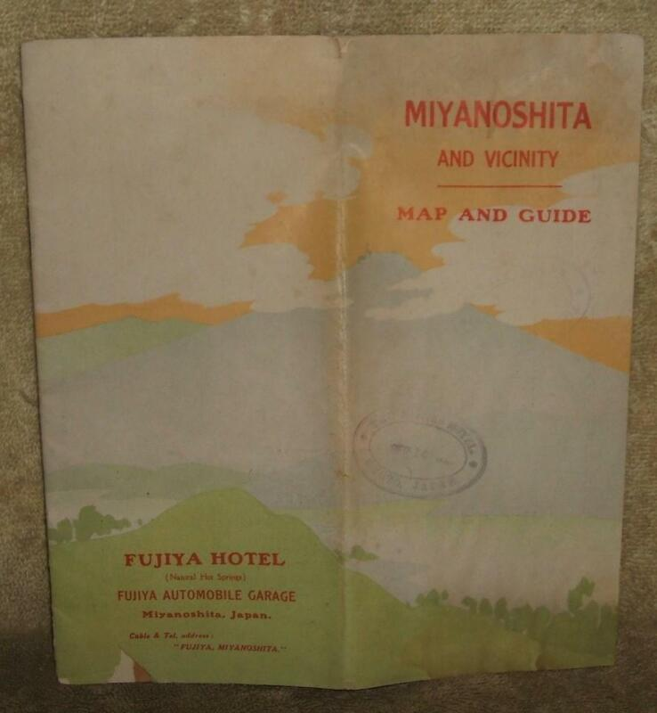 Circa 1926 Miyanoshita Japan and Vicinity Map and Guide