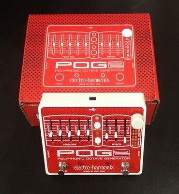 Electro-Harmonix POG 2 Octave Effects Pedal Free Shipping! with Power Supply!