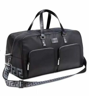 New&sealed Versace Black Weekend Holdall Duffle Bag Large Gym,holiday,overnight!