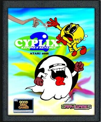 Atari 2600 CYPLIX 2- Kepon's Revenge Homebrew- Tested and Works- Cart Only