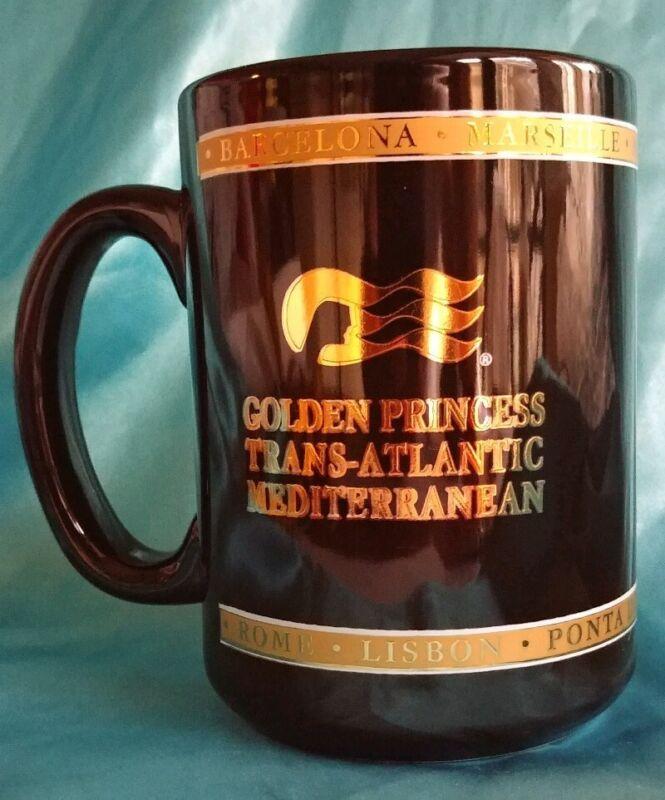 Golden Princess Cruise Ship Line Trans-Atlantic Mediterranean Coffee Cup Mug
