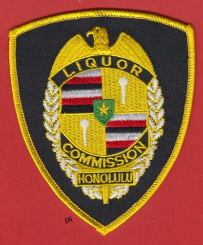 HONOLULU HAWAII LIQUOR COMMISSION  POLICE SHOULDER PATCH