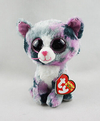 6  Ty Beanie Boos Glitter Eyes With Tag New Gift Lindi Cat Plush Stuffed Toys