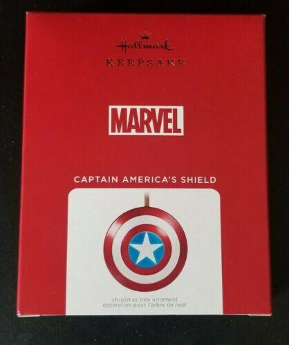 Hallmark Keepsake 2021 Captain Americas Shield Metal Ornament Marvel MCU Avenger