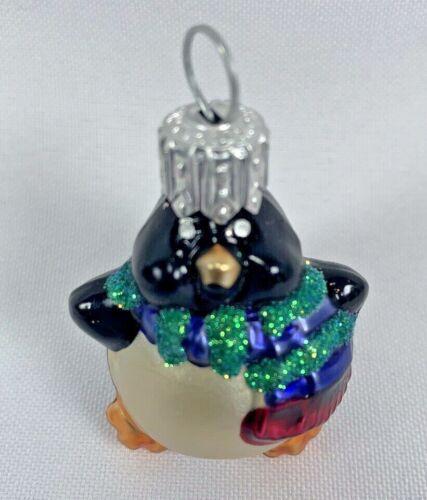 Hallmark Keepsake LI'L ROLY-POLY PENGUIN Blown Glass Ornament 2000