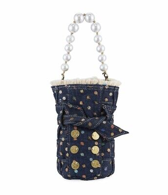 Kooreloo dotted bag with pearl handle NWT