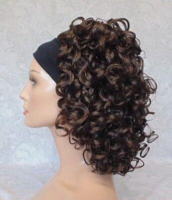 Short Super Curly Dark Brown Silky Soft Headband Wig - 781 - Headband Wigs Short