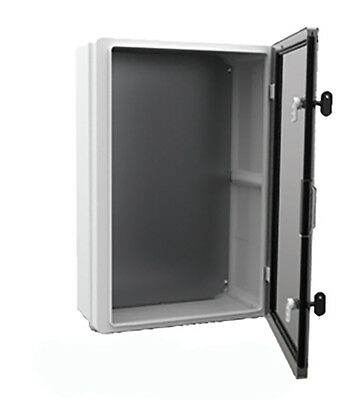 IP65 ABS Plastic Electronic Enclosure 400X300X170mm Hinged Door With Backplate