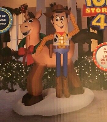 Gemmy Disney Toy Story Woody and Bullseye Airblown Blow up Inflatable 6 Feet NEW