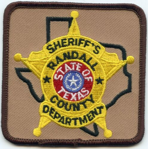 RANDALL COUNTY TEXAS TX Red Center SHERIFF POLICE PATCH