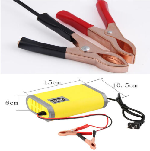 Portable Intelligent Motorcycle Car Auto Battery Charger Maintainer Trickle 12V