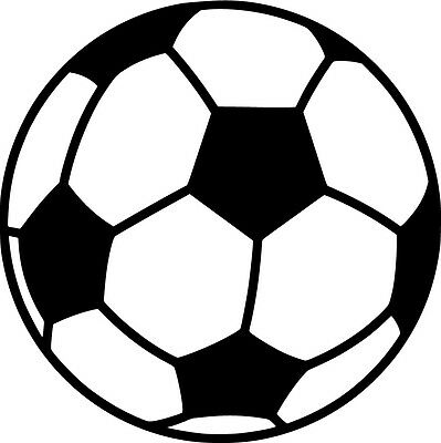 Soccer Ball Vinyl Sticker Decal Sports - Choose Size & Color - Soccer Stickers