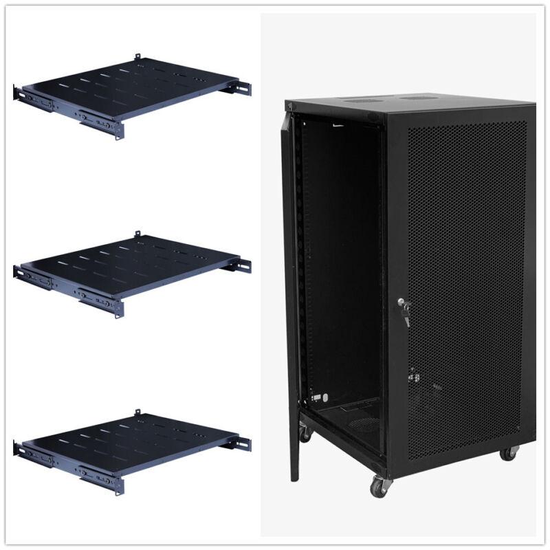 """18U Wall Mount Network Server Cabinet Rack Enclosure Lock Door 22.75"""" Depth"""