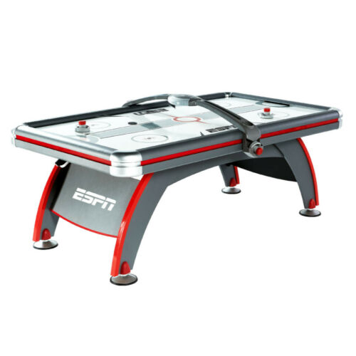 AIR HOCKEY TABLE 84-Inch Air Powered LED Scorer Accessories Included Gray Red