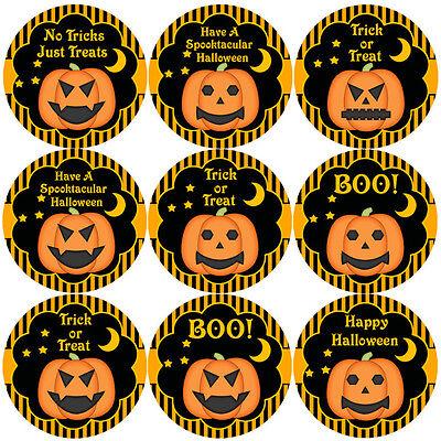 144 Halloween Pumpkins 30mm Children's Reward Stickers for Teacher, Parent, - Halloween Pumpkins For Children