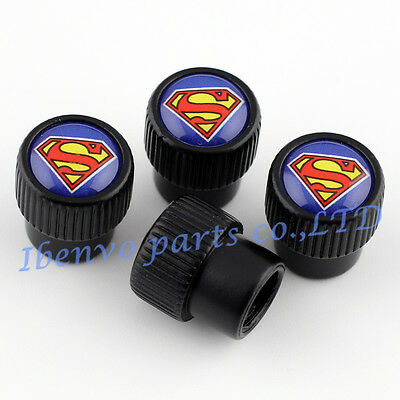 Roundel Metal Car Accessories Wheel Tyre Tire Stem Air Valve Super Man Kits Caps