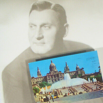 Opera Star RICHARD TUCKER'S Personal Postcard sent from Spain to this Collector