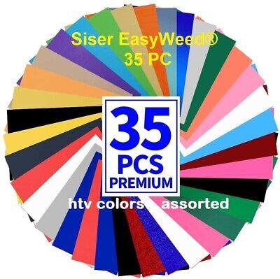 Siser Htv Heat Transfer Vinyl 35 Pc 12 X 7.5 Sheets Iron On Vinyl Silhouette