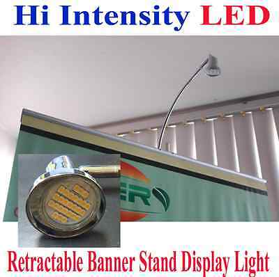 LED Display Light Banner Stand Lamp Retractable Roll Up Trade Show Booth Clamp