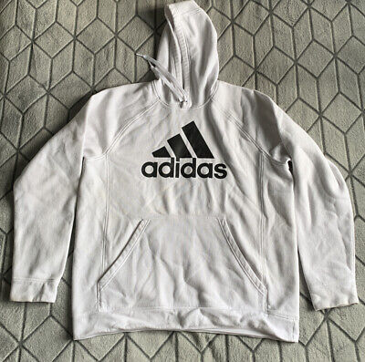 white adidas hoodie sweater xl extra large