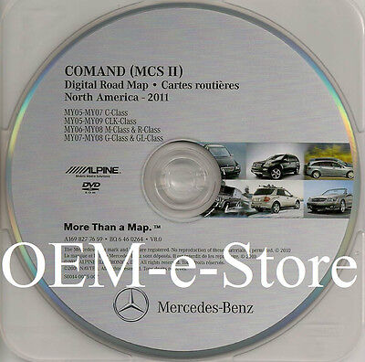 2006 2007 2008 Mercedes Benz R320 R350 R500 R63 AMG Navigation DVD Map 100% OEM